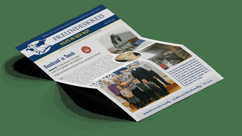 Newsletterbild Freundeskreis Hilfe in der Not