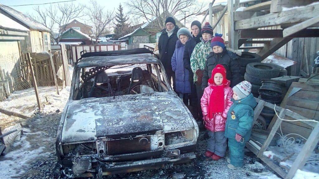 Notleidende Autobrand